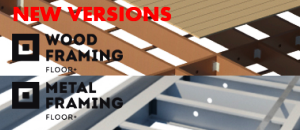 New versions of Wood and Metal Framing Floor+ have been released!
