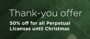 Perpetual Licenses of BIM Solutions up to 50% Off through Christmas
