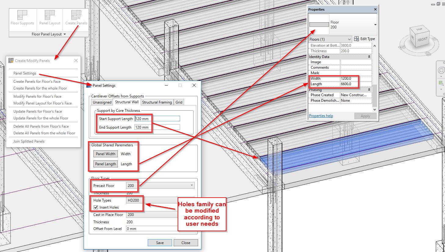 Apply Precast Concrete Revit Add On To Precast Slabs