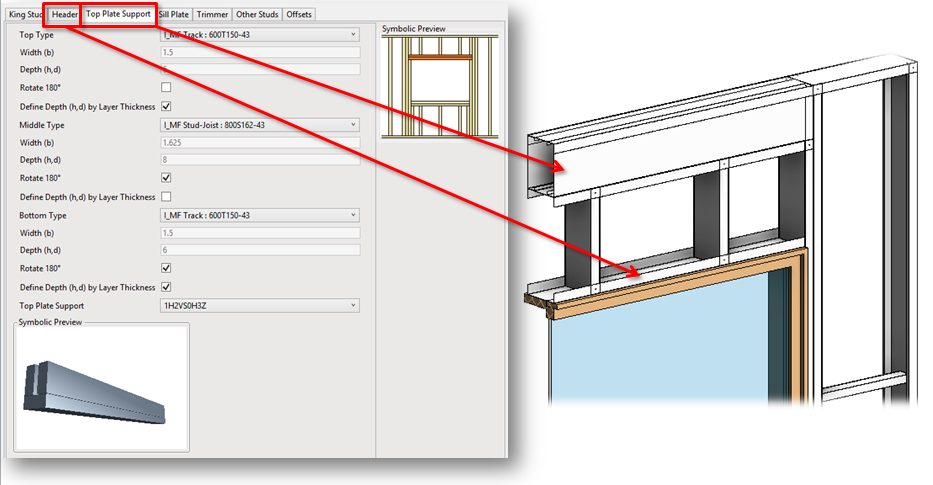 metal framing diagram. Interesting Diagram Now Autodesk Revit Users Can Separately Predefine Header And Top Plate  Support In Window Door Opening Framing On Metal Framing Diagram
