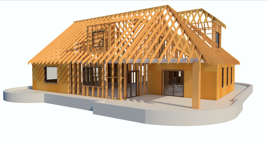 Framing timber walls in revit model wood framing wall for Wood house design software