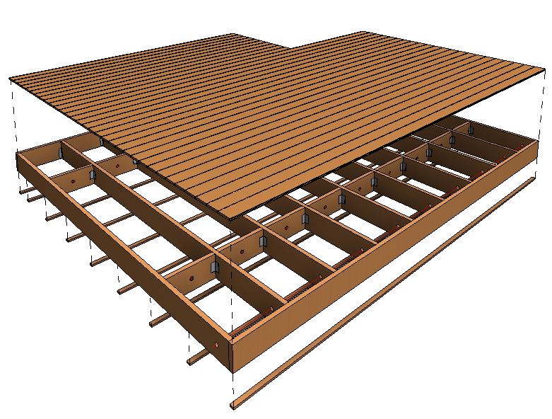 framing revit with light frame timber floor systems