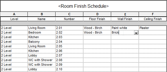 Floor finishes floor finishes schedule for Interior design schedule template