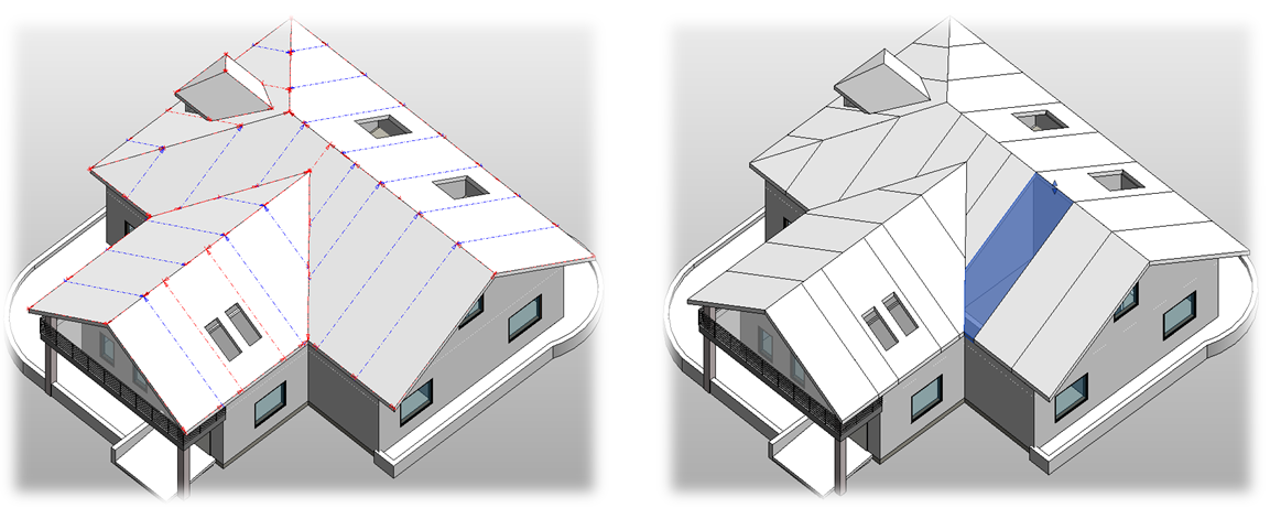 Roof panel layout agacad tools4bim Roof drawing software