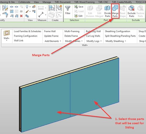 How to Frame Wall Parts | AGACAD TOOLS4BIM