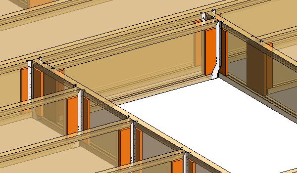 Wood Floor Frame with I-Joists