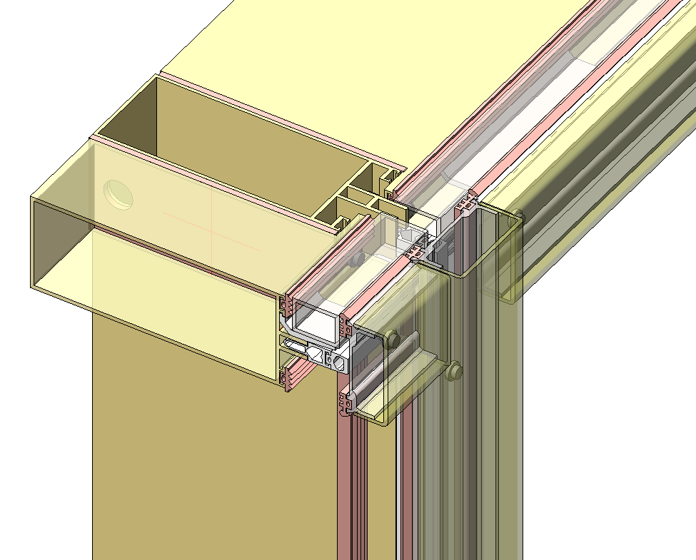 355fc7c12c3 frame architectural curtain walls with highly detailed elements (including  mullions