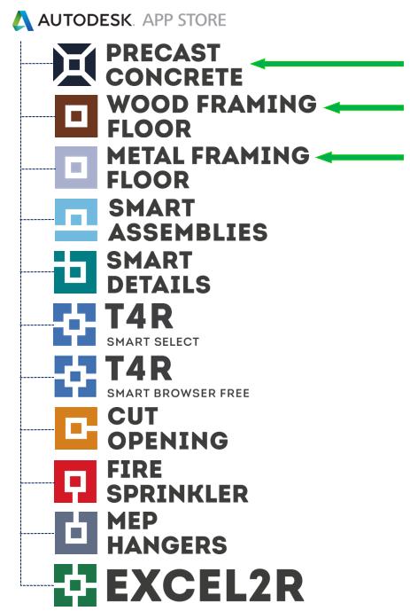Precast, Metal/Wood Framing Floor join Autodesk App Store | AGACAD ...
