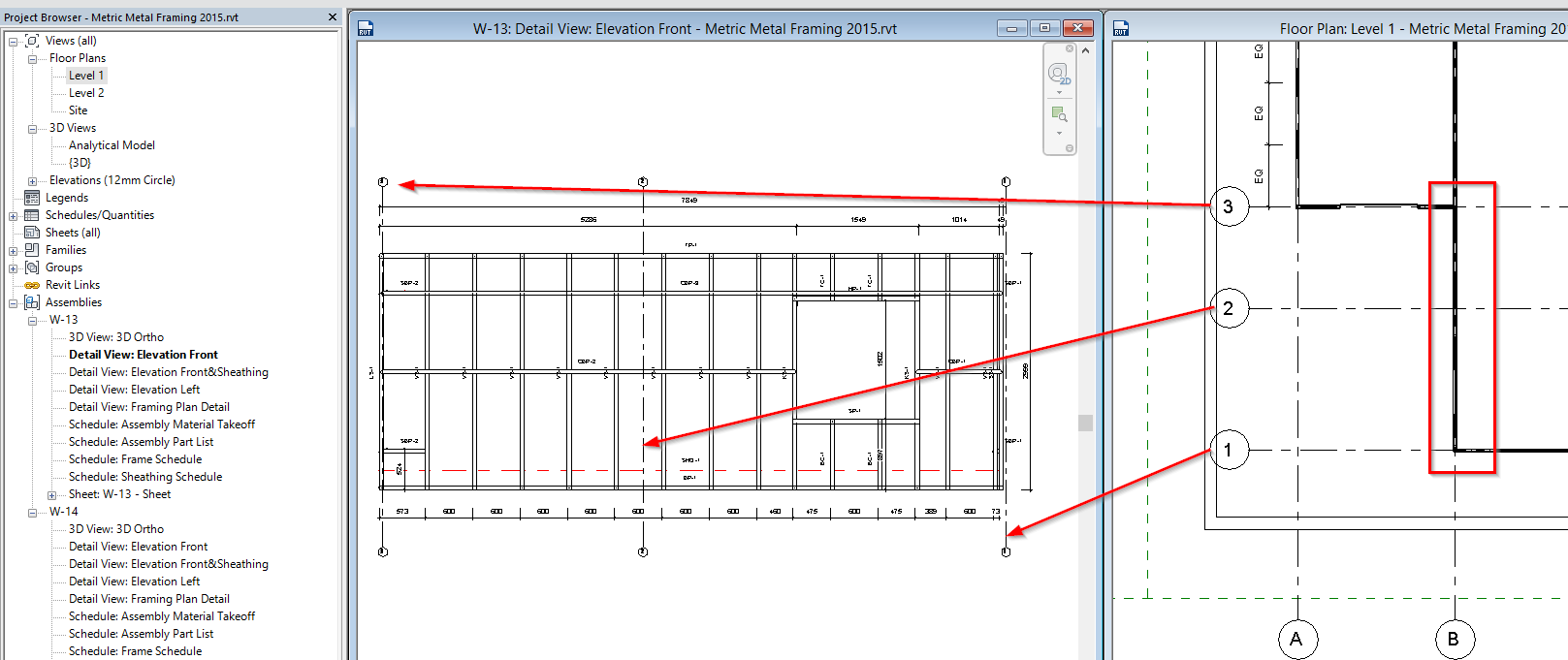 Aga cad blog sharing bim practice agacad tools4bim note original grids need to be created by the center of the wall in the plan view publicscrutiny Images