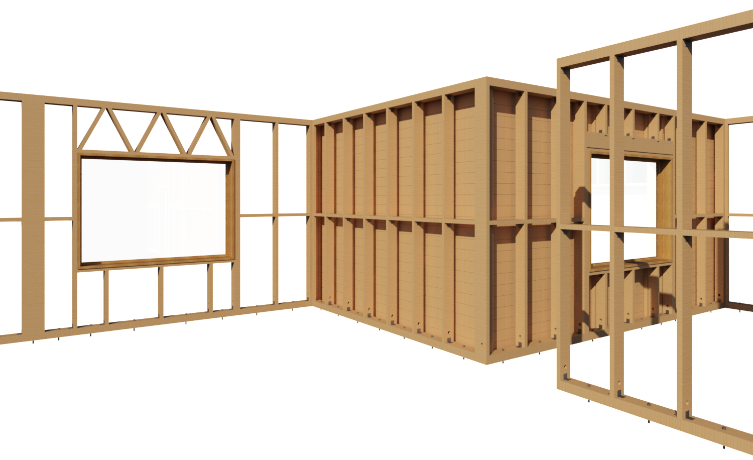 Wall Frame Structure : Framing timber walls in revit model wood wall