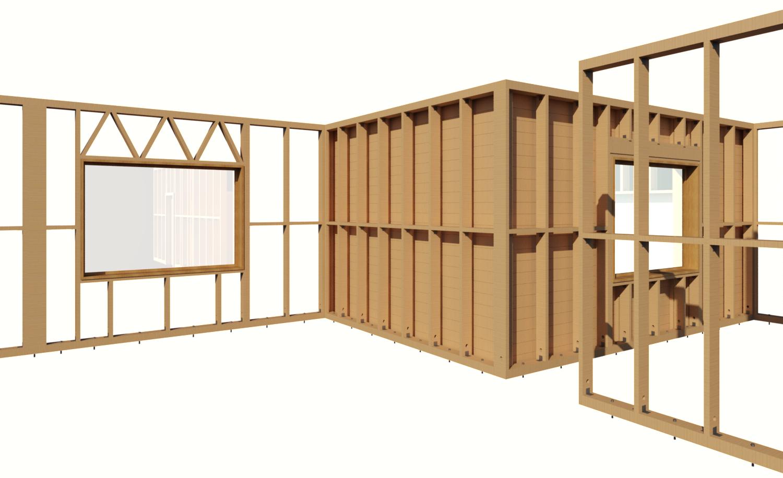 Wooden Wall Framing : Framing timber walls in revit model wood wall