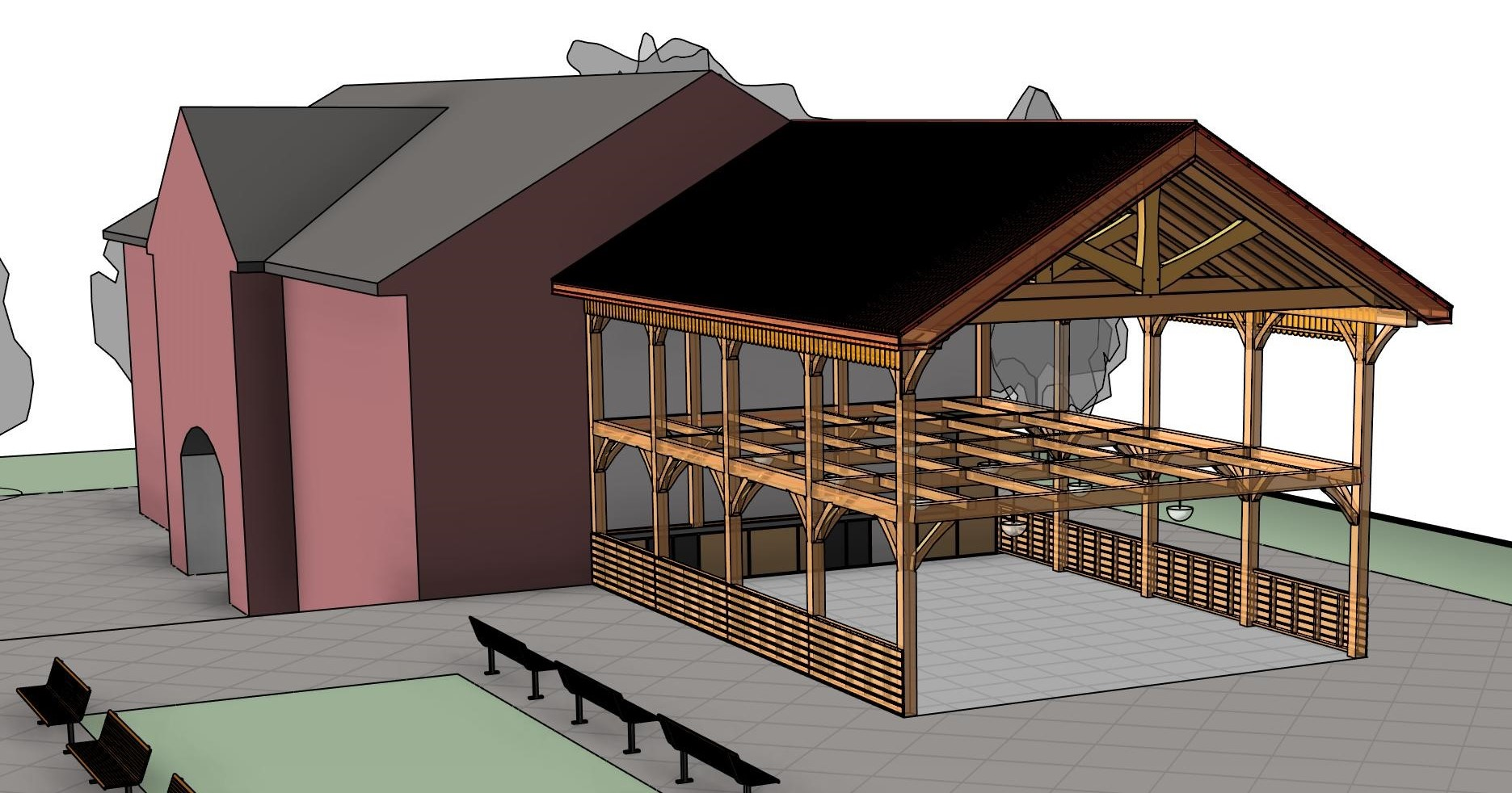 Framing Heavy Timber Structures In Revit 174 Better And