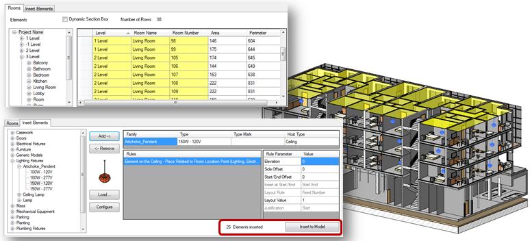 Inserting Revit Families into 3D BIM Model | Insert Elements