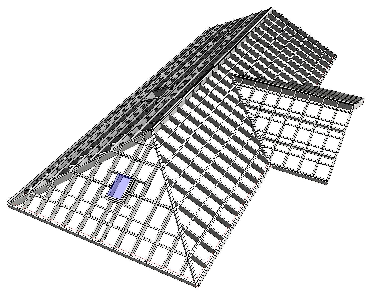 Metal framing roof agacad tools4bim for Roof drawing software