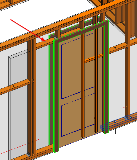Correct Way Of Inserting Pocket Doors In Wooden Frame Walls In Revit® Models