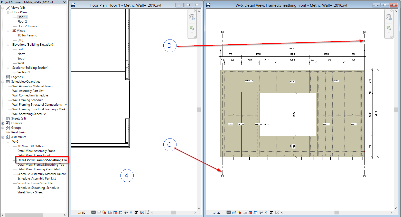 Whats new in wood framing wall 201610 and 201510 agacad tools4bim using the new version of wood framing wall you will be able to add grid symbol into assembly views publicscrutiny Images