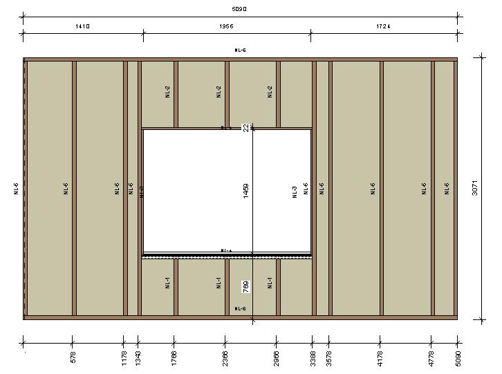 Wood Frame Wall framing timber walls in revit® model | wood framing wall+ | agacad