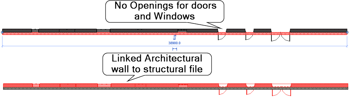 No Openings for doors and windows. Revit