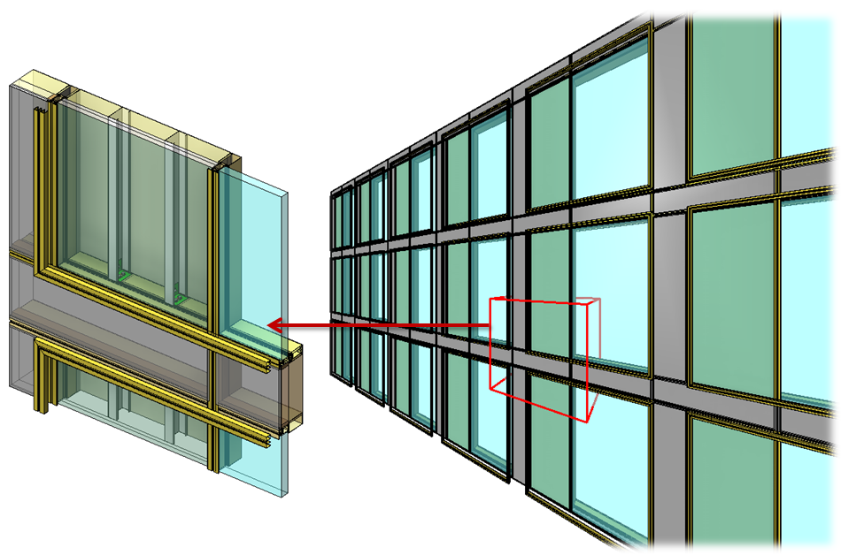 Curtain walls and panels from design to highly detailed for Wall to wall curtain