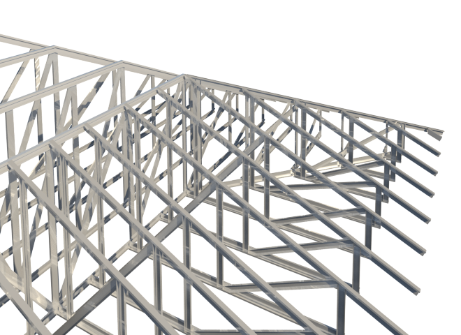 when revit user wants to create framing elements aligned to different angles in different planes he has to make a lot of commands adjustments - Metal Roof Trusses
