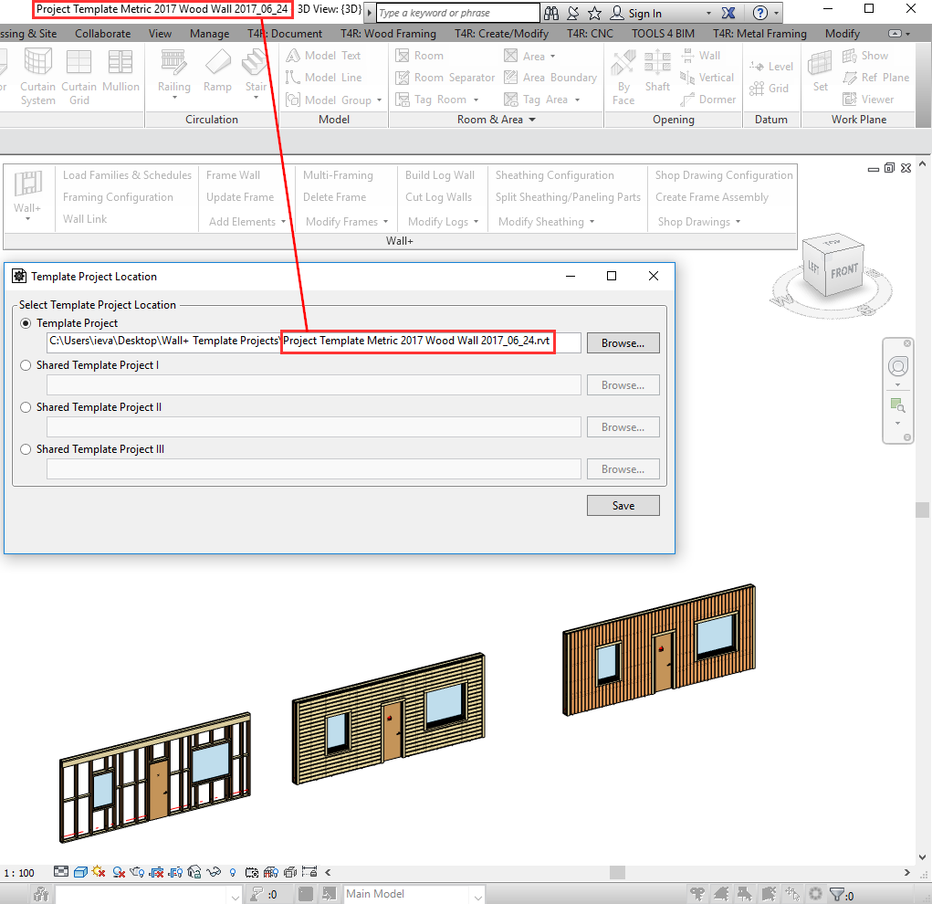 New Feature Template Projects In Framing Software For Revit The