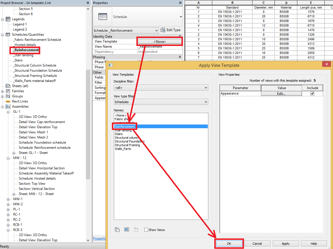 How to prepare and use Revit® schedule tables in Smart